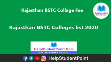 Rajasthan BSTC Collage Fee , Rajasthan BSTC Colleges list 2021